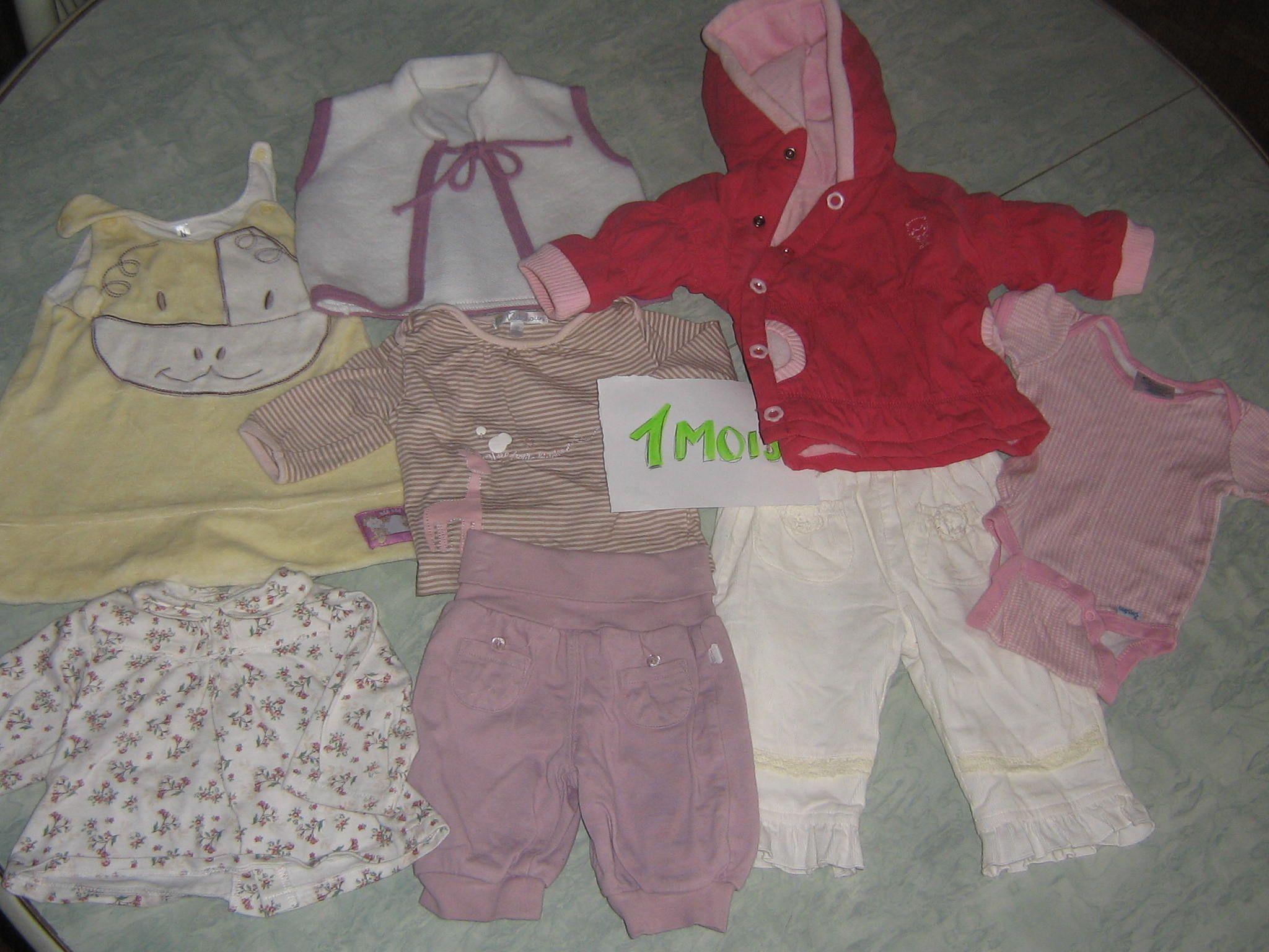 30d0054e8dde6 Lot vêtements bébé fille en 1 mois